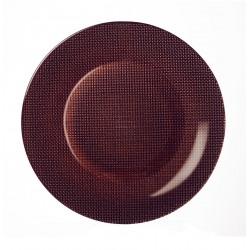 Platou sticla Bormioli Inca Metalic Moka 31 cm