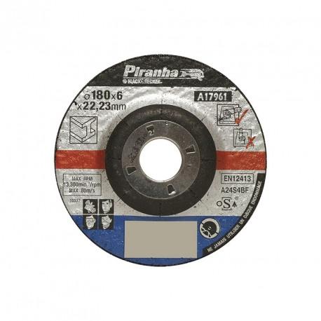 Disc polizare metal Black+Decker A17961 F27 180X6X22 mm