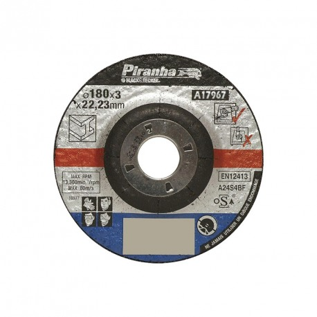 Disc abraziv Black+Decker A17967 180x3x22mm