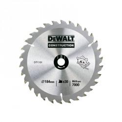 Disc Seria 30. 184x16x2.6mm. 30 dinti DeWalt - DT1151