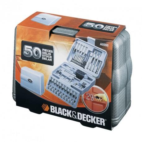 Trusa 50 accesorii insurubare/gaurire Black+Decker - A6988