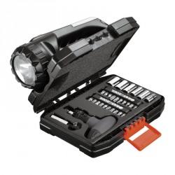 Set 35 accesorii Black+Decker insurubare + lanterna si vesta - A714