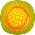 Farfurie desert sticla Bormioli Bisancio Arancio 21 cm