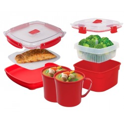 Cutie alimente din plastic pentru microunde Sistema 0.88L