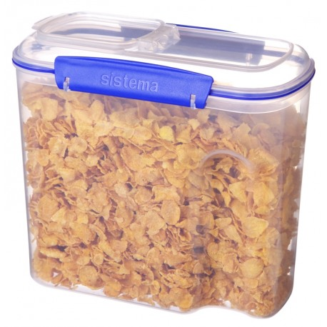 Cutie din plastic pentru cereale cu capac Sistema KLIP IT 2.8L