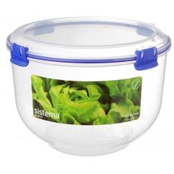 Cutie alimente din plastic ovala cu capac Sistema KLIP IT 3.5L