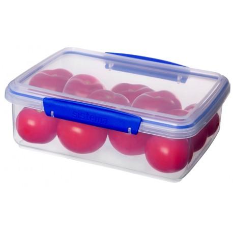 Cutie alimente din plastic dreptunghiulara cu capac Sistema KLIP IT 2L