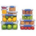 Cutie alimente din plastic dreptunghiulara 2 comp. cu capac Sistema KLIP IT 2L