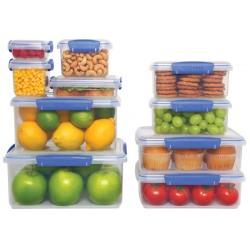 Cutie alimente din plastic dreptunghiulara 2 compartimente cu capac Sistema KLIP IT 1L