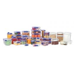 Cutie alimente din plastic dreptunghiulara cu capac Sistema KLIP IT 3L