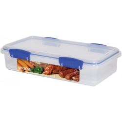 Cutie alimente din plastic dreptunghiulara cu capac Sistema KLIP IT 1.75L