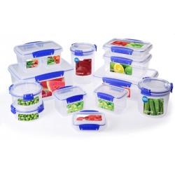 Cutie alimente din plastic dreptunghiulara cu capac Sistema KLIP-IT 1.2L
