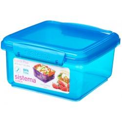 Cutie alimente din plastic dreptunghiulara color cu capac Sistema Lunch Plus 1.2L