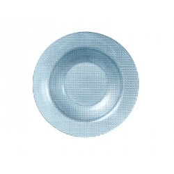 Farfurie adanca sticla Bormioli Inca albastru 23 cm