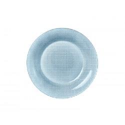 Farfurie desert sticla Bormioli Inca Albastru 21 cm