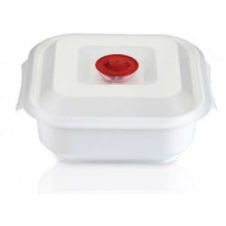 Cutie din plastic pentru alimente patrata cu supapa abur Life Story microchic 1.7L