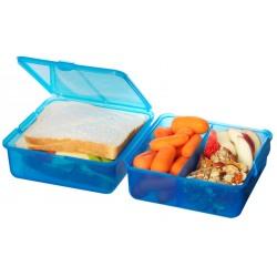 Set 2 cutii alimente din plastic colorat Sistema Lunch Cube 1.4L