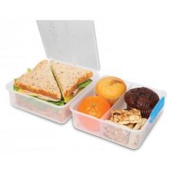 Set 2 cutii alimente din plastic colorat Sistema Lunch Cube To Go 1.4L