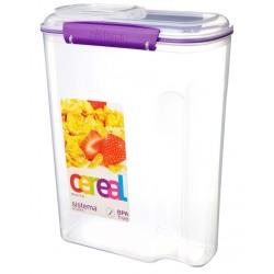 Cutie din plastic pentru cereale cu capac Sistema Accents 4.2L