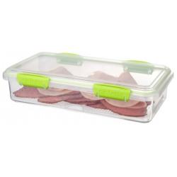 Cutie alimente din plastic dreptunghiulara cu capac Sistema Accents Deli Plus 1.75L