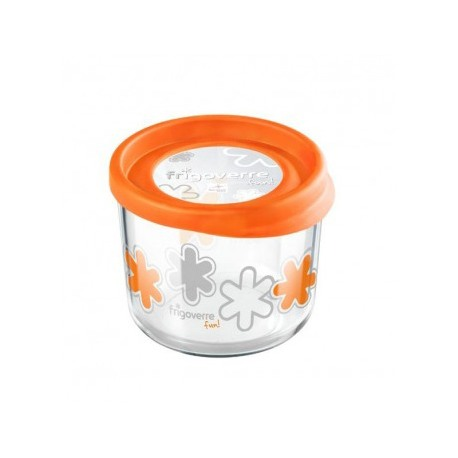 Cutie alimente rotunda Bormioli Frigoverre Fun Portocalie 12 cm 800 ml