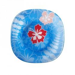 Farfurie adanca sticla Bormioli  Jungle Blue 23 cm