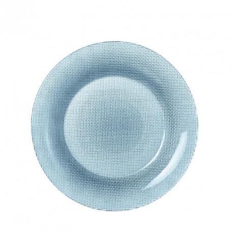Farfurie intinsa sticla Bormioli Inca albastru 28 cm