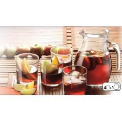 Set sangria Bormioli 5 buc - carafa + 4 pahare