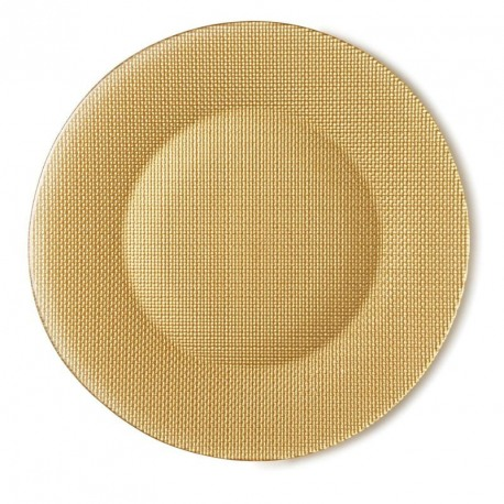 Platou sticla Bormioli Inca Auriu 31 cm