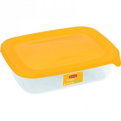 Cutie alimente plastic Curver Fresh&Go dreptunghiulara portocalie 500 ml