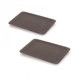 Tava rectangulara melamina Cambro neagra