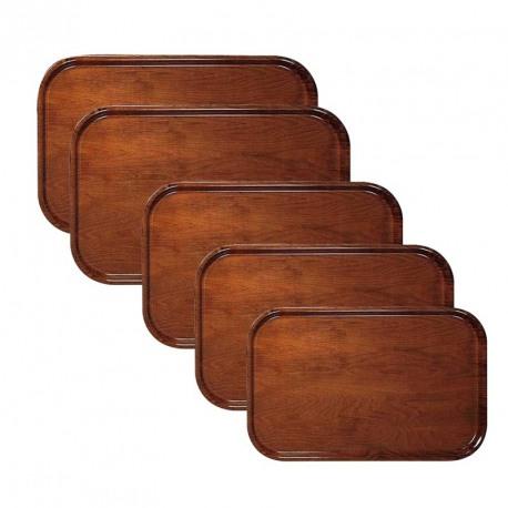 Tava servire lemn antiderapanta dreptunghiulara Cambro 45 x 32 cm