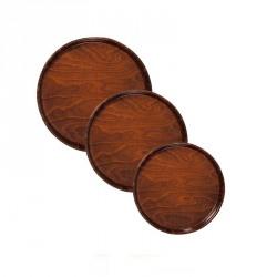Tava servire lemn antiderapanta rotunda Cambro