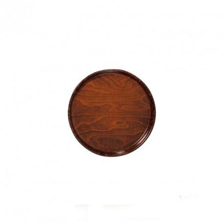 Tava servire lemn antiderapanta rotunda Cambro 42 cm