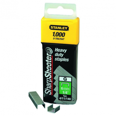 Capse 8mm Tip G 4/11/140 - 1000 buc Stanley® - 1-TRA705T