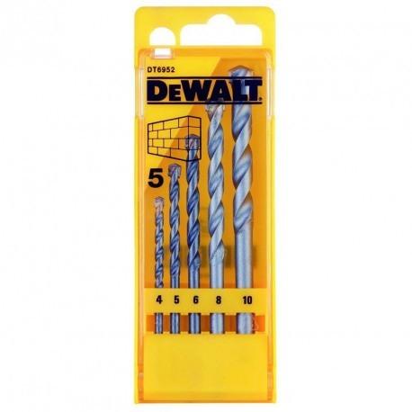 Set 5 burghie pentru zidarie 4-5-6-8-10mm DeWalt - DT6952