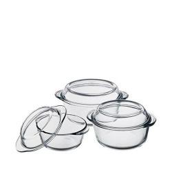 Set vase termorezistente cu capac Pasabahce