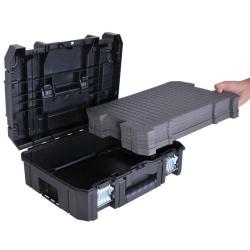 Cutie cu capac plat si separatoare personalizate din spuma poliuretanica Dewalt - 70703