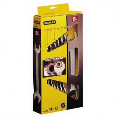 Set 8 chei fixe Stanley Maxi-Drive 6x7-20x21mm - 4-87-052