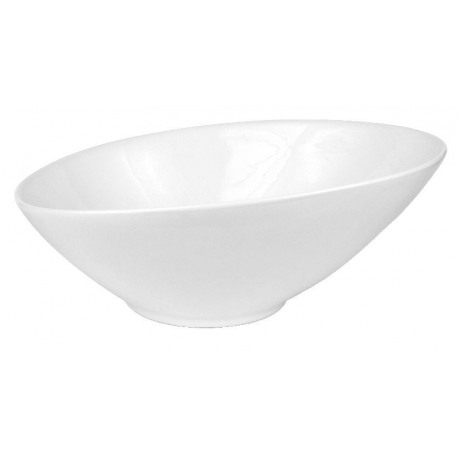 Bol oval salata portelan Yalco Blanco