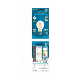 Bec led cu filament lumina calda 6W E27 480LM CVMORE - E27.00132