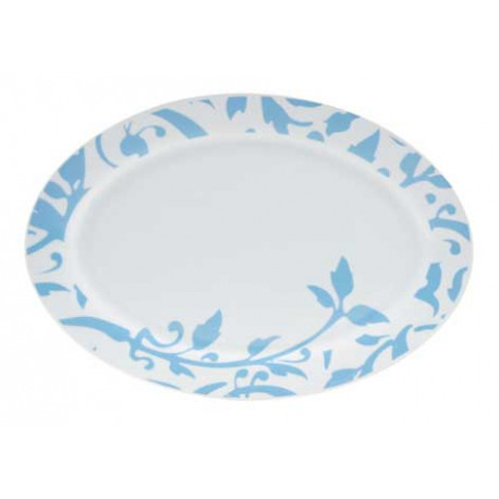 Platou oval portelan Yalco Blue Forest 35 cm