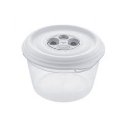 Cutie alimente din plastic rotunda cu supapa Tontarelli Fresh Wave 1L