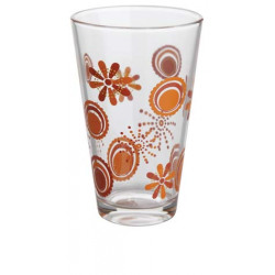 Set 6 pahare decor Yalco Flower Red 36CL
