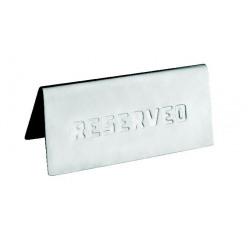 Placuta inox masa rezervat Yalco 12x6Cm