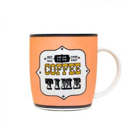 Cana portelan decor Coffee Time somon 360 ml