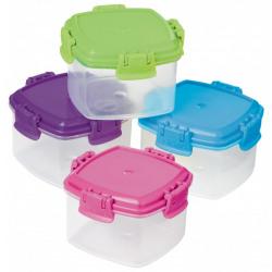 Set 4 cutii alimente plastic 62ml Knick Knack To Go diverse culori