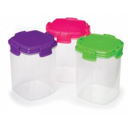 Set 3 cutii alimente plastic colorat 138ml Knick Knack To Go