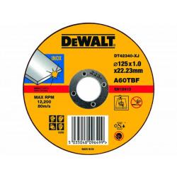 Disc pentru taiere inox si metal subtire 125x22.2mm DeWalt - DT42340
