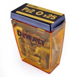 Set 25 capete insurubare PZ2 DeWalt  - DT7908